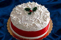 British Christmas Cake.Traditional British Christmas Cakes And Christmas Puddings
