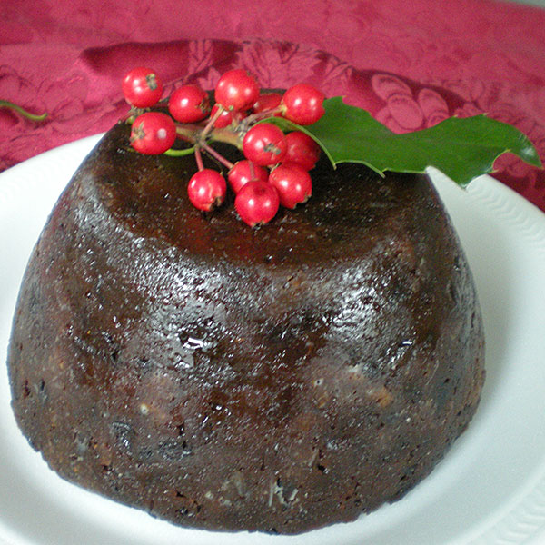 traditional English christmas pudding aka plum pudding